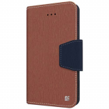 Apple iPhone 6/6s Beyond Cell Infolio Leather Case - Brown/Dark Blue