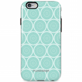 Apple iPhone 6/6s PureGear Motif Series Case - Mint Circles