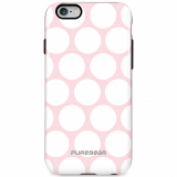 Apple iPhone 6/6s PureGear Motif Series Case - Pink with White Dots