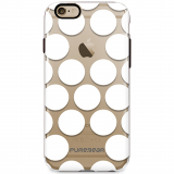 Apple iPhone 6 Plus/6s Plus PureGear Motif Series Case - Clear with White Dots