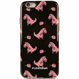 Apple iPhone 6 Plus/6s Plus PureGear Motif Series Case - Black with Pink Dinosaur