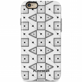Apple iPhone 6 Plus/6s Plus PureGear Motif Series Case - White with Black Geo