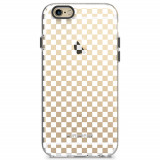 Apple iPhone 6/6s PureGear Motif Series Case - Clear/White Checkered