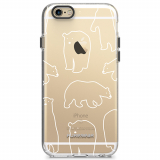 Apple iPhone 6/6s PureGear Motif Series Case - Clear/White Bears