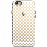 Apple iPhone 6 Plus/6s Plus PureGear Motif Series Case - Clear/White Checkered