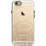 Apple iPhone 6 Plus/6s Plus PureGear Motif Series Case - Clear/White Bears