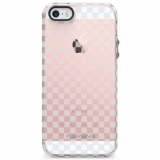 Apple iPhone 5/5s/SE PureGear Motif Series Case - Clear/Gray Checkered