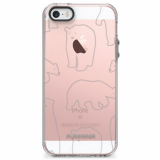 Apple iPhone 5/5s/SE PureGear Motif Series Case - Clear/Gray Bears