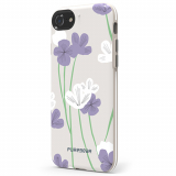 Apple iPhone 7 PureGear Motif Series Case - Grey/Purple Floral