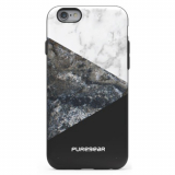 Apple iPhone 6/6s PureGear Motif Series Case - Stone and Color Black