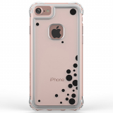 Apple iPhone 7 Ballistic Jewel Essence Series Case - Clear/Black Dancing Bubbles