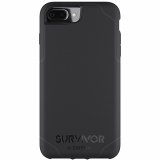 Apple iPhone 8 Plus/7 Plus/6s Plus/6 Plus Griffin Survivor Strong Series Case - Black/Deep Grey