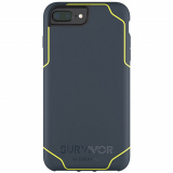 Apple iPhone 8 Plus/7 Plus/6s Plus Griffin Survivor Journey Series Case Denim/Flourescent Citron