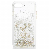 Apple iPhone 7 Rebecca Minkoff Glitterfall Case - Gold Studs