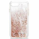 **NEW**Apple iPhone 7 Plus Rebecca Minkoff Glitterfall Case - Rose Gold Peace Signs