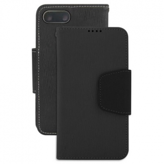 Apple iPhone 7 Plus Beyond Cell Infolio Leather Case - Black/Black