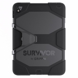 Apple iPad Air 2/iPad Pro 9.7 Griffin Survivor All Terrain Tablet Case - Black/Black