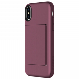 Apple iPhone X Incipio Stowaway Series Case - Plum