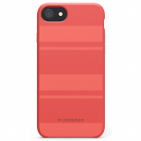 Apple iPhone 7/6s/6 PureGear SoftTek Case - Deep Coral Stripes