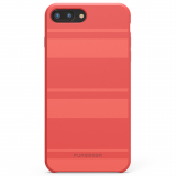 Apple iPhone 7 Plus/6s Plus/6 Plus PureGear SoftTek Case - Deep Coral Stripes
