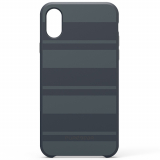 Apple iPhone X PureGear SoftTek Case - Midnight Blue Stripes