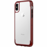 Apple iPhone Xs/X Griffin Survivor Clear Series Case - Dark Red