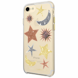 Apple iPhone 8/7 Rebecca Minkoff Double Up Series Case - Glitter Galaxy