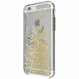 Apple iPhone 8/7 Rebecca Minkoff Idiom Glitterfall Case - Goal Digger with Gold Glitter
