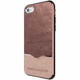 Apple iPhone 7 Rebecca Minkoff Colorblock Slider Case - Crackled Rose Gold Leather