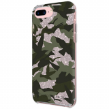 Apple iPhone 8 Plus/7 Plus Rebecca Minkoff Double Up Case Camo Bird Green/Silver Glitter