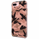 Apple iPhone 8 Plus/7 Plus Rebecca Minkoff Double Up Case Camo Bird Peach/Rose Gold
