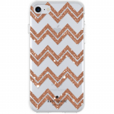 Apple iPhone 8/7/6s Kate Spade New York Protective Hardshell Case - Chevron Rose Gold