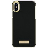 Apple iPhone X Kate Spade New York Inlay Wrap Case - Black Saffiano