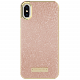 Apple iPhone X Kate Spade New York Inlay Wrap Case - Rose Gold Saffiano