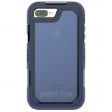 Apple iPhone 8 Plus/7 Plus Griffin Survivor Extreme Series Case - Navy/Blue Tint