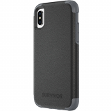 Apple iPhone Xs/X Griffin Survivor Prime Series Case - Black Leather