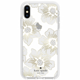 Apple iPhone Xs/X Kate Spade New York Defensive Hardshell Case - Reverse Hollyhock