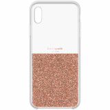 Apple iPhone XR Kate Spade New York Half Clear Crystal Case - Rose Gold