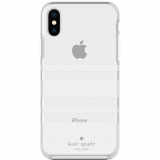 Apple iPhone Xs/X Kate Spade New York Protective Hardshell Case - Charlotte Stripe White