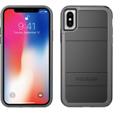 Apple iPhone Xs/X Pelican Protector Series Case- Black/Grey