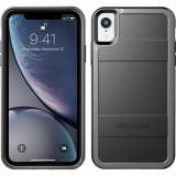 Apple iPhone XR Pelican Protector Series Case - Black/Grey