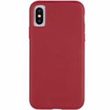 Apple iPhone Xs Case-Mate Barely There Leather Series Case - Cardinal