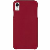 Apple iPhone XR Case-Mate Barely There Leather Series Case - Cardinal
