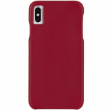 Apple iPhone Xs Max Case-Mate Barely There Leather Series Case - Cardinal