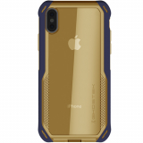Apple iPhone Xs/X Ghostek Cloak 4 Series Case - Blue/Gold