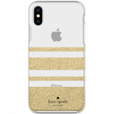 Apple iPhone Xs/X Kate Spade New York Protective Hardshell Case Charlotte Stripe Gold