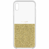 Apple iPhone XR Kate Spade New York Half Clear Crystal Case - Gold