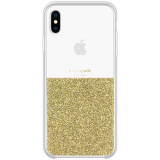 Apple iPhone XsMax Kate Spade New York Half Clear Crystal Case - Gold
