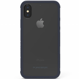 **NEW**Apple iPhone Xs/X PureGear DualTek Case - Clear/Navy Blue