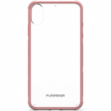 Apple iPhone Xs Max PureGear DualTek Case - Clear/Soft Pink